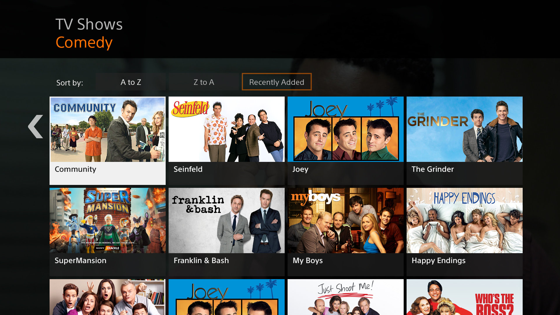 Sony Crackle free movies and tv shows