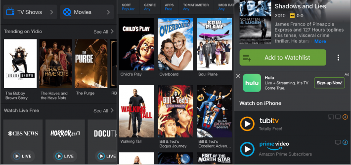 movie apps android iOS